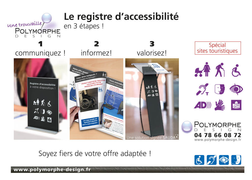 registre accessibilité, site culturel, Polymorphe design