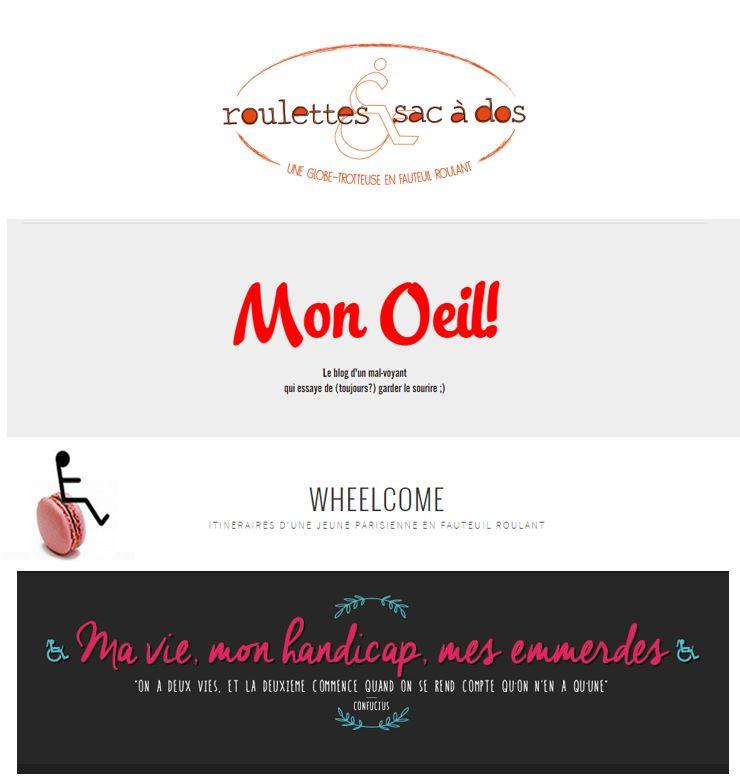 logos des 4 blogs