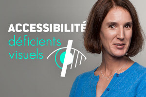 portrait Lise et logo accessibilité dv