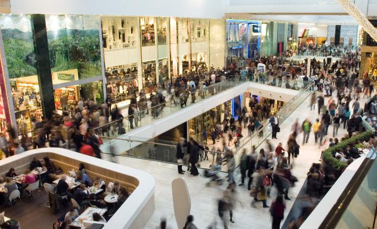 centre commercial - foule