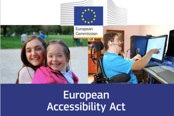 visuel de l'accessibility act, Europe, réglementation,okeenea