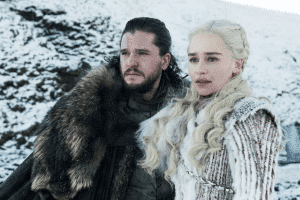 Jon Snow et Daenerys- game of thrones -handicap aveugle