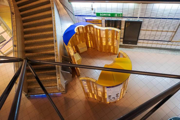 abri sensoriel métro de Toulouse