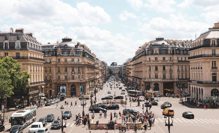 Circulation dense à Paris