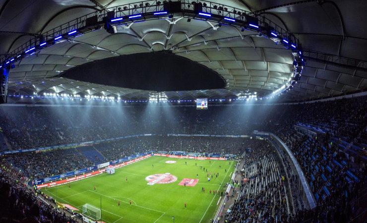 Stade rempli de spectateurs