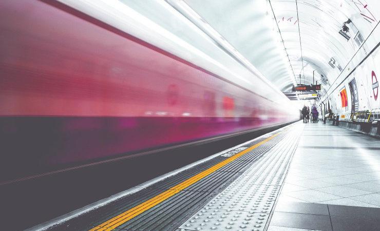 Un quai du métro londonien